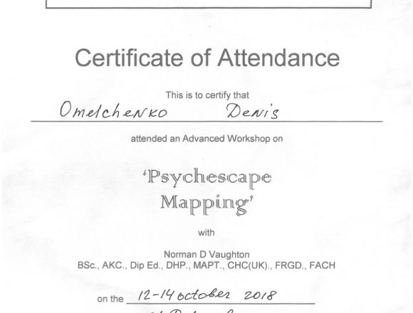Сертификат Psychescape mapping